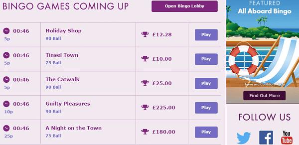 Bet354 Bingo Games
