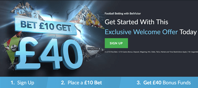 BetVictor Sports Betting Bonus