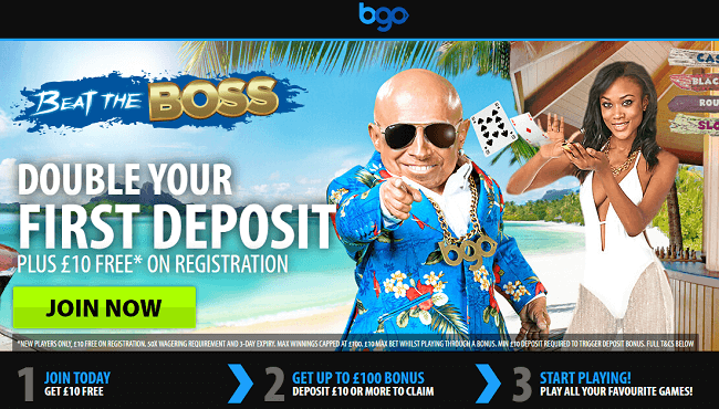 BGO Casino Welcome Bonus Offer