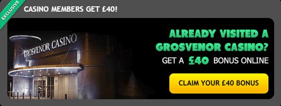 Grosvenor Casino Members Bonus