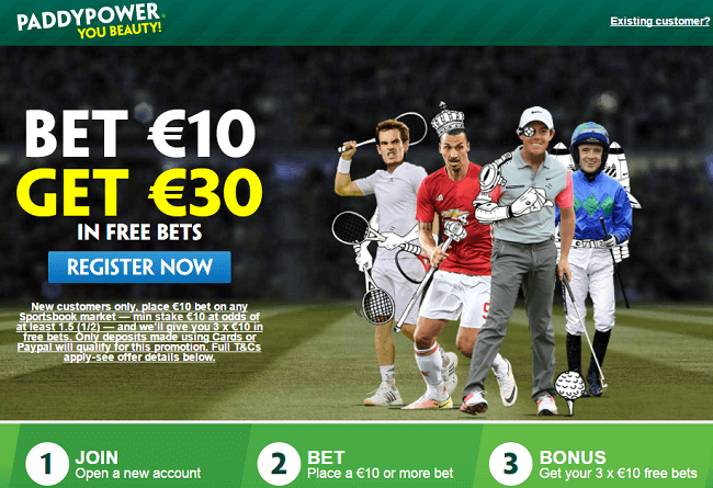 Paddy Power Sports Betting Bonus
