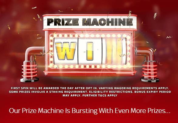 Sky Vega Prize Machine