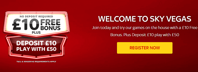 Sky Vega Free Welcome Bonus