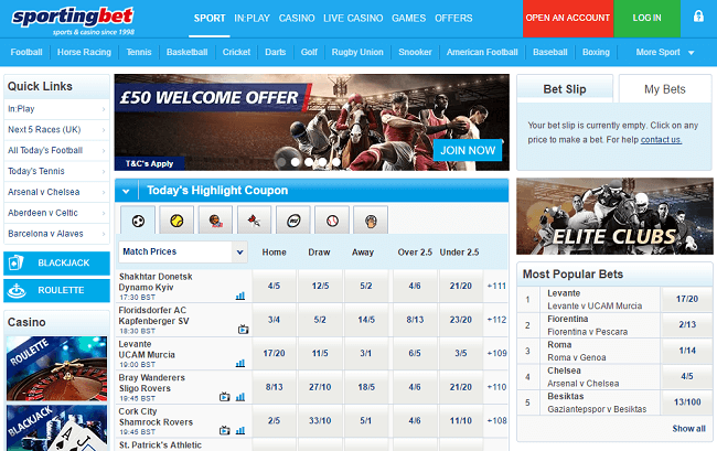 sporting bet welcome offer